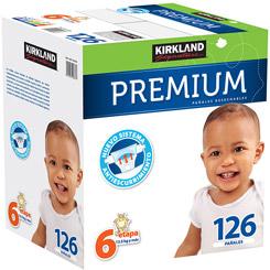 Pañales Kirkland Signature Premium Etapa 6 Unisex 126 U