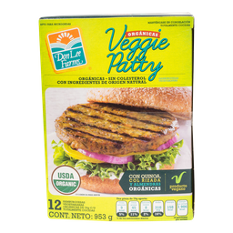Hamburguesa Don Lee Farms Vegetariana y Orgánica 12 U