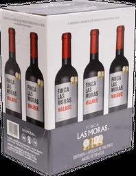 Vino Tinto 6 Botellas De 750 mL Las Moras Malbec