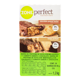 Barra Zone Perfect de Proteína Choco-Cacahuate 50 g x 24