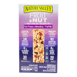 Trail Mix Barras De Fruta Y Nueces 35 g Nature Valley 30 U