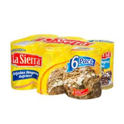 Frijoles La Sierra Negros Refritos 580 g x 6 U