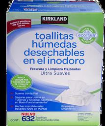 Toallas Húmedas Kirkland Signature Desechables en Inodoro 632 U