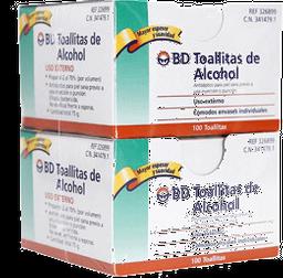 Antiséptico Bd Toallitas Con Alcohol 100 U x 2