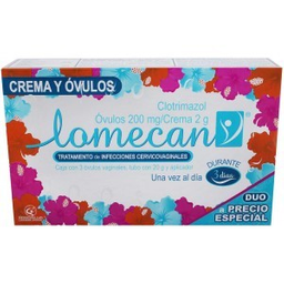 Lomecan-v Duo 3 Óvulos + Tubo 20 g 2 U (200 mg/2 g)