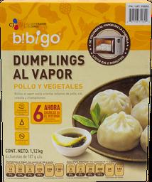 Dumplings Bibigo al Vapor Pollo y Vegetales 1.12 Kg
