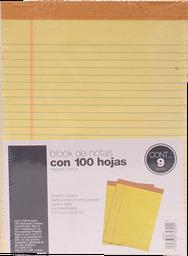 Block de Hojas Tops Tamaño Carta Rayado Con Margen 100 Hojas x 9