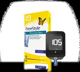 Medidor De Glucosa Con 50 Tiras Freestyle Optium Neo