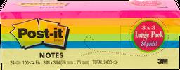 Block de Notas Post-It de Colores Con 100 Hojas 24 U
