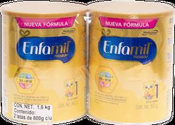 Formula Lactea Para Bebes  Enfamil Premium 800 g x 2 U