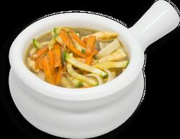 Sopa pasta y pollo
