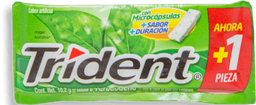Goma de Mascar Trident Yerbabuena Sin Azúcar 6 U