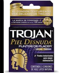 Condones Trojan Piel Desnuda 3 U