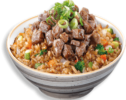 Yakimeshi con Arrachera