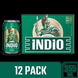 Indio Cerveza Lata 12 Pack