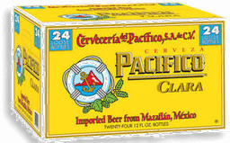 Cerveza Clara 24 Botellas 355 mL Pacifico