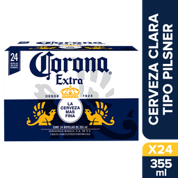 Cerveza Corona Extra Botella 355 mL x 24