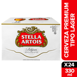 Cerveza Stella Artois Botella 330 mL x 24