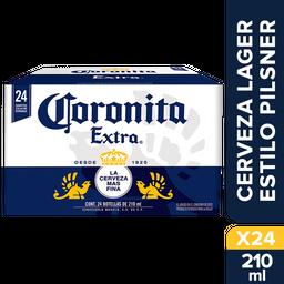 Cerveza Coronita Extra Botella 210 mL x 24