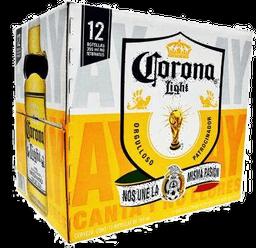 Cerveza Clara 24 Botellas De 355 mL Corona Light