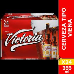 Cerveza Victoria Botella 355 mL x 24