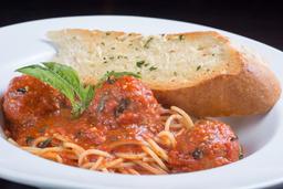 Albóndigas Italianas con Spaghetti.