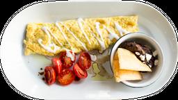 Omelette de Espinacas y Queso Crema