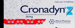 Cronadyn 14 Tab (20 mg)