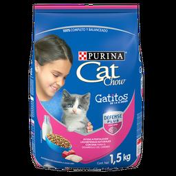 Alimento Para Gato Cat Chow Gatitos Leche Carne y Pescado 1.5 Kg