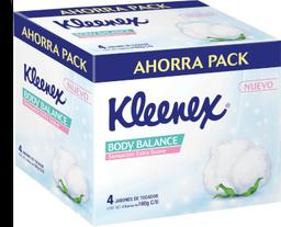 Jabón Kleenex Body Balance de Tocador Barra 160 g x 4
