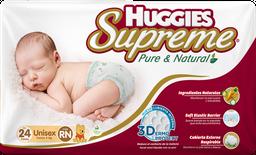 Pañales Huggies Supreme Pure & Natural 24 U
