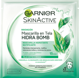 Mascarilla Facial Garnier Skin Active Con Té Verde 1 U