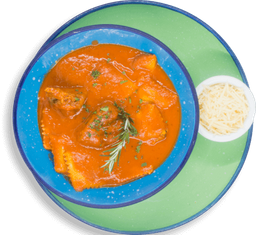 Ravioles de Espinaca y Ricotta con Estofado