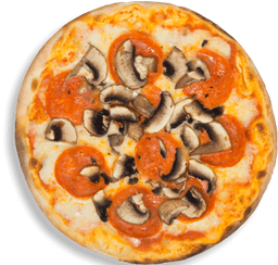 Pizza Mediana Pepperoni e Funghi