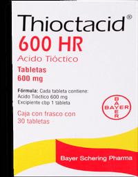 Thioctacid 600 Hr 30 tabletas (600 mg)