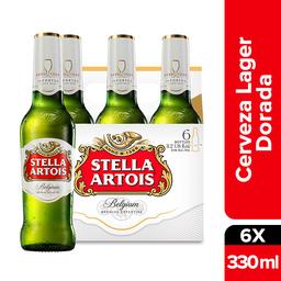 Cerveza Stella Artois Botella 330 mL x 6