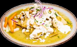 Chilaquiles con salsa verde asada