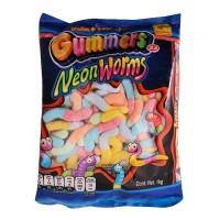 Gomitas De la Rosa gummers neon worms 1 kg