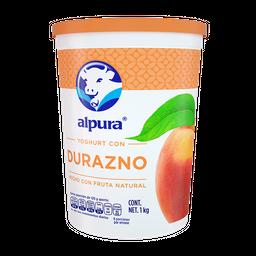 Yoghurt Alpura con Durazno 1 Kg