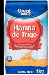 Harina Great Value de Trigo 1 Kg