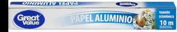 Papel alumino Great Value 1 pza