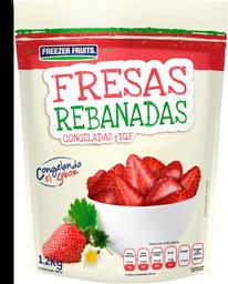 Fresas rebanadas congeladas Freezer Fruits bolsa con 1.2 kg
