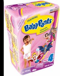 Calzones Entrenadores Baby Pants Talla 4 XGrande Niña 10 Piezas