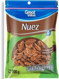 Nuez Great Value Pelada Bolsa 100 g