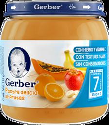 Papilla Gerber Etapa 2 Postre Delicias de Frutas 113 g
