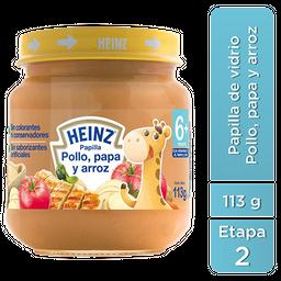 Heinz Papilla para Bebé Sabor Pollo, Papa y Arroz 113g