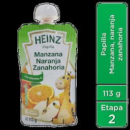 Heinz Papilla para Bebé Sabor Manzana, Naranja y Zanahoria  113g