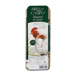Huevo Aires De Campo Blanco orgánico 12 U