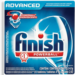 Detergente Finish Powerball para lavavajillas 13 tabletas...