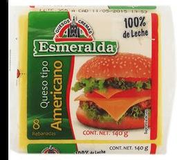 Queso Americano Esmeralda en Rebanadas 140 g